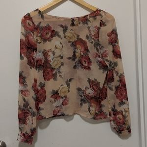 Dynamite floral long sleeved blouse